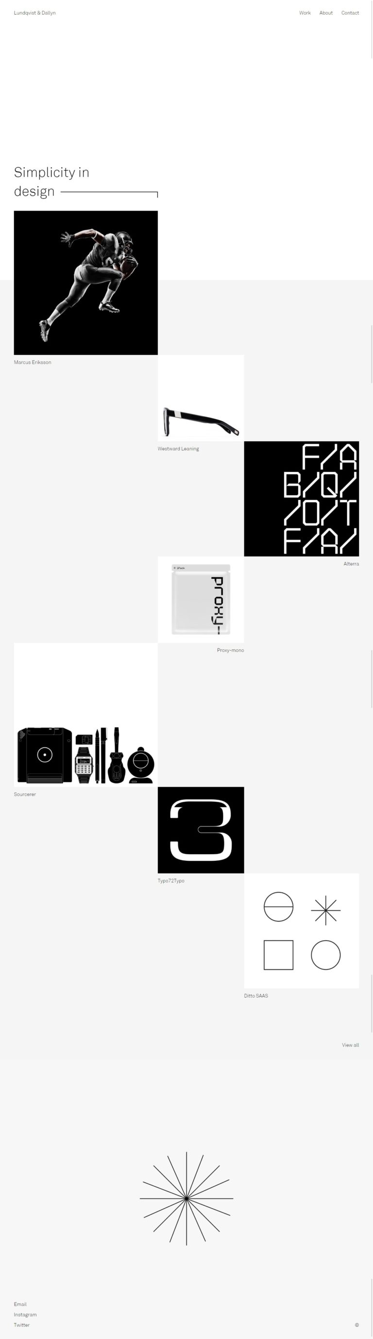 Art Direction/Design - Lundqvist & Dallyn