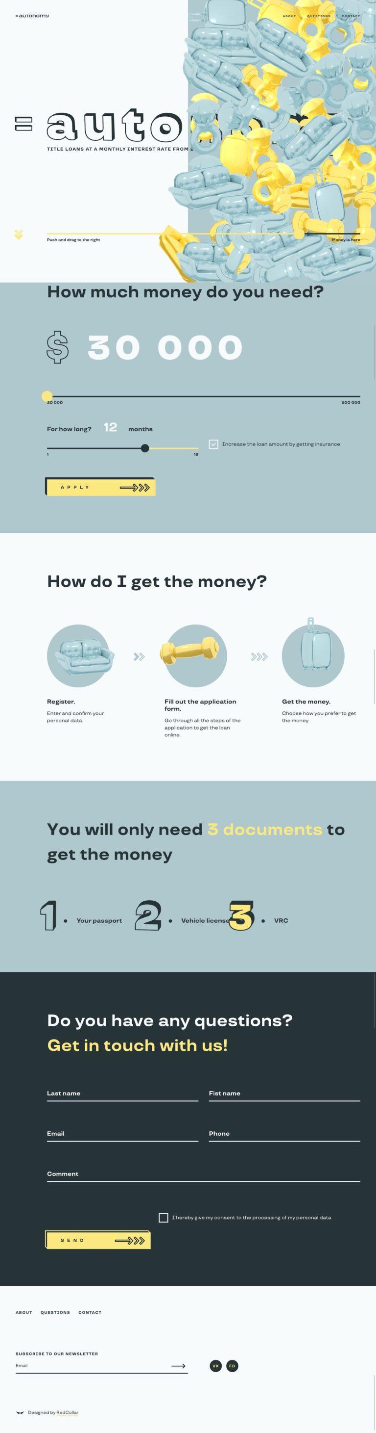 Title loans — Autonomy