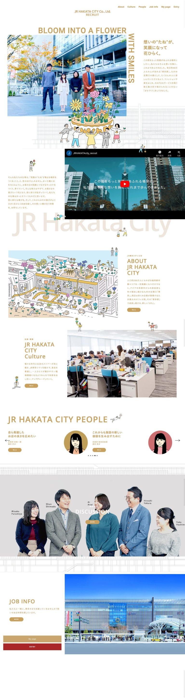 新卒採用サイト | 株式会社JR博多シティ