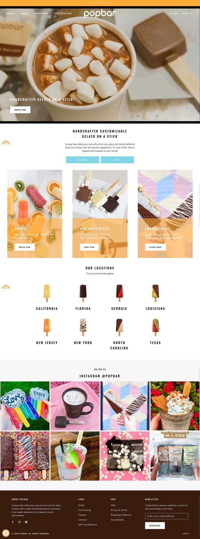 Frozen desserts, chocolate sticks and more treats | pop-bar.com