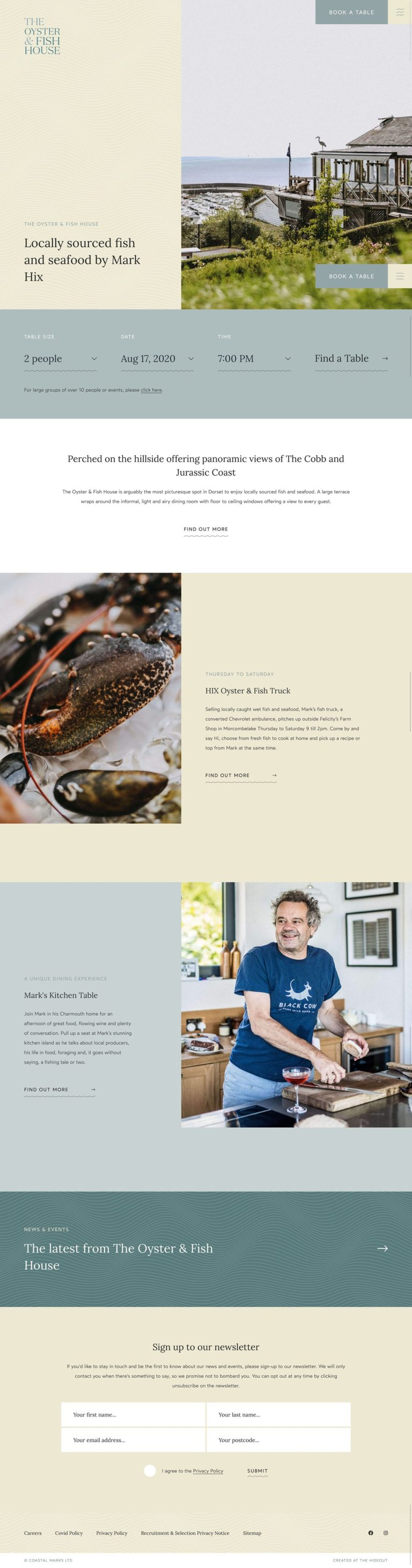 The Oyster & Fish House | Mark Hix