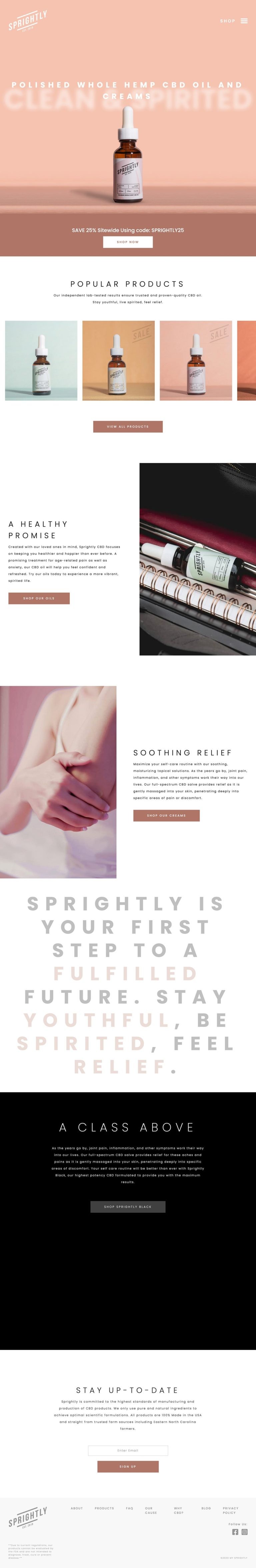 My Sprightly | Whole Hemp CBD Oil and Creams